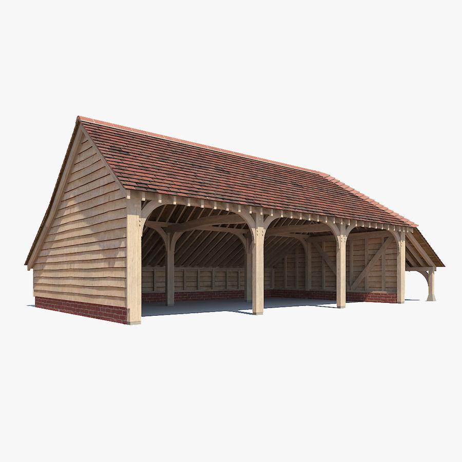 Granaio incorniciato in legno royalty-free 3d model - Preview no. 1