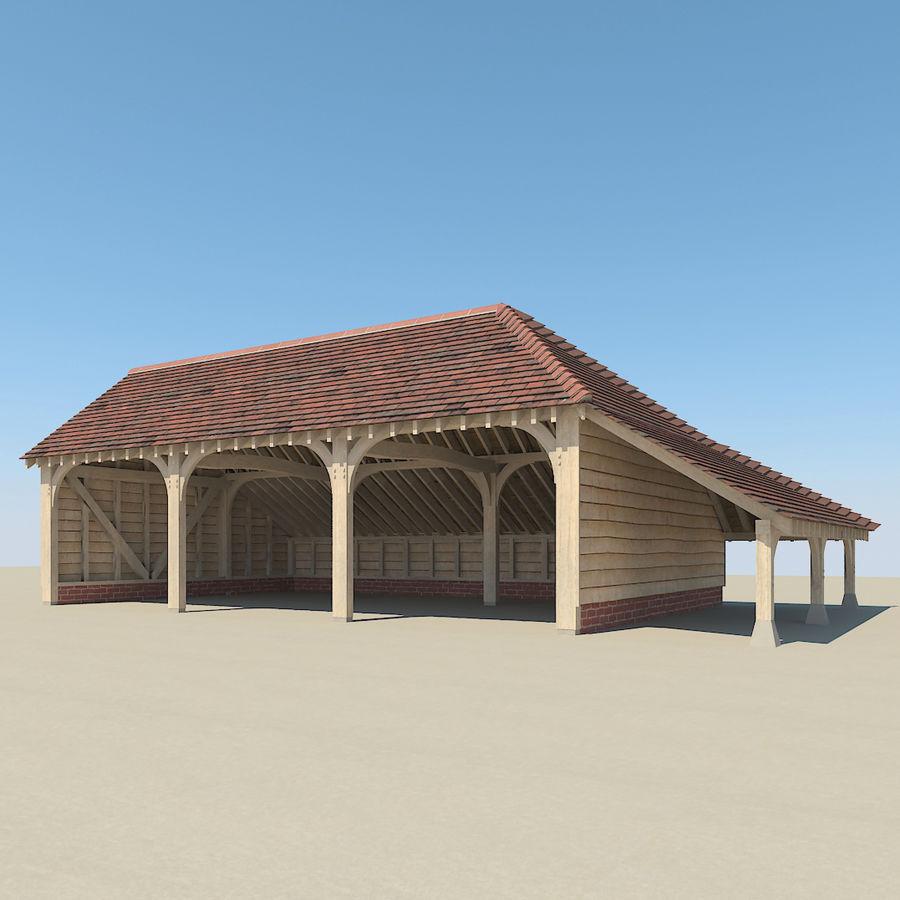 Granaio incorniciato in legno royalty-free 3d model - Preview no. 3