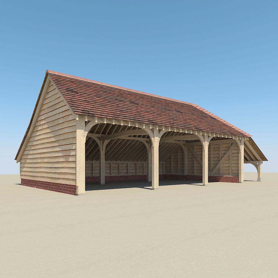 Granaio incorniciato in legno royalty-free 3d model - Preview no. 2