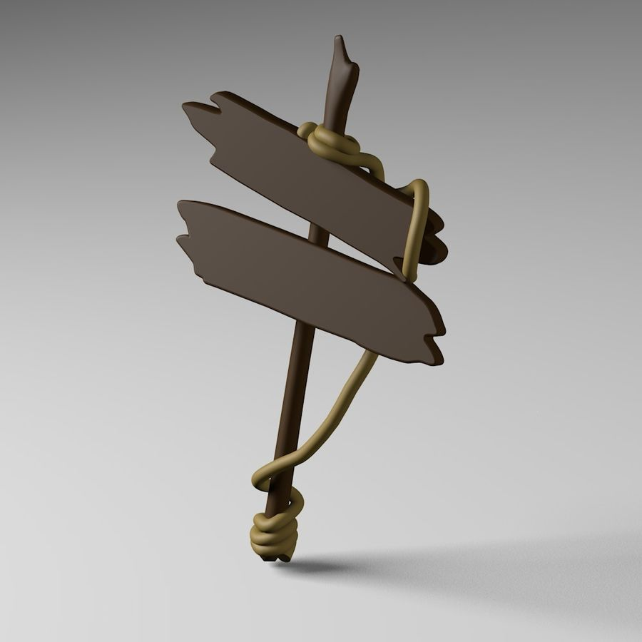 Sign royalty-free 3d model - Preview no. 6