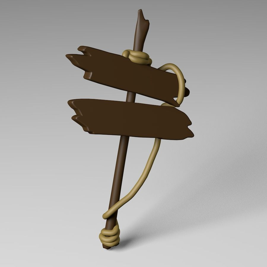 Sign royalty-free 3d model - Preview no. 1
