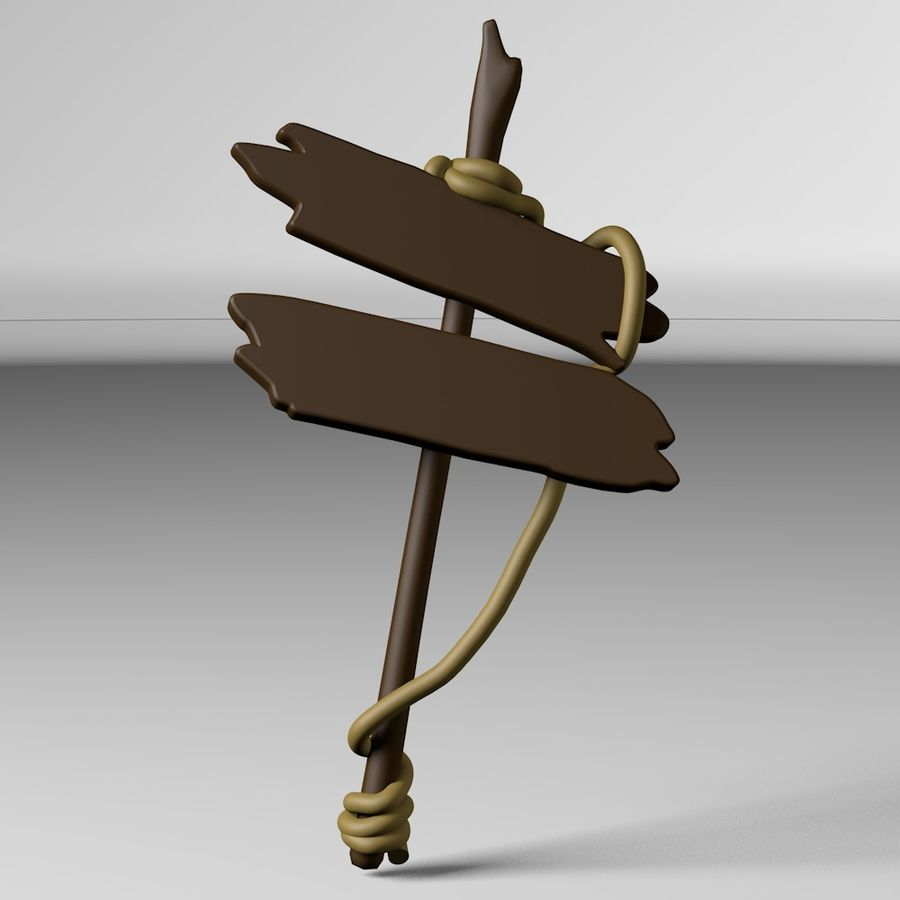 Sign royalty-free 3d model - Preview no. 10