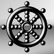 海賊船の車輪 3d model