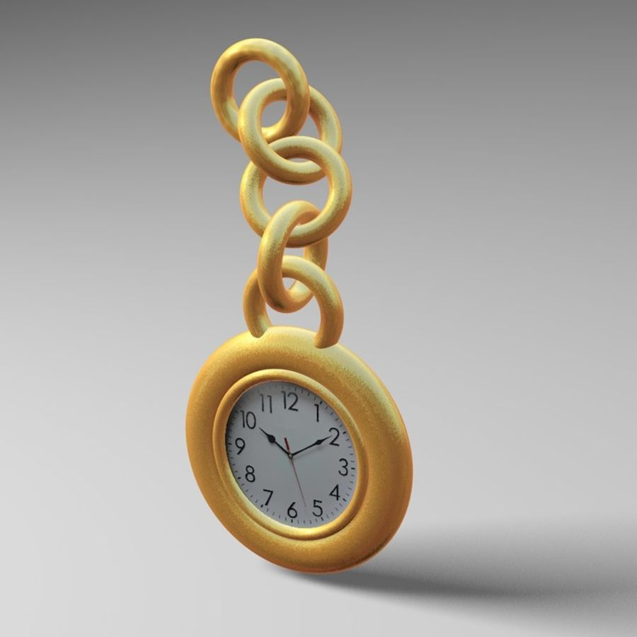 Pocket Watch royalty-free 3d model - Preview no. 5