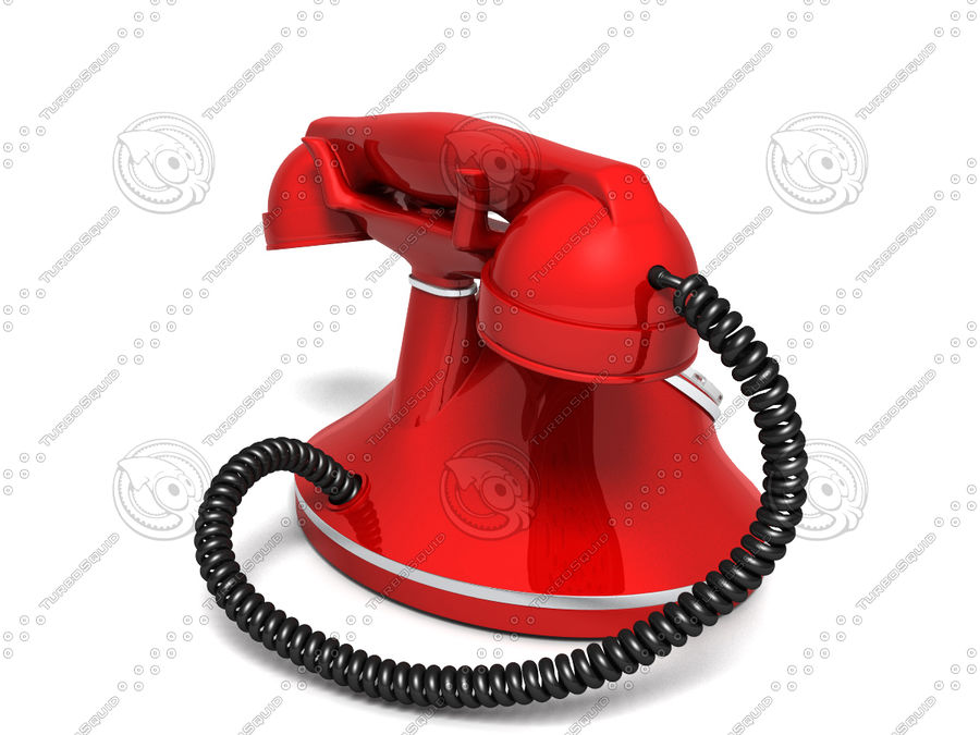 Vintage Phone royalty-free 3d model - Preview no. 3