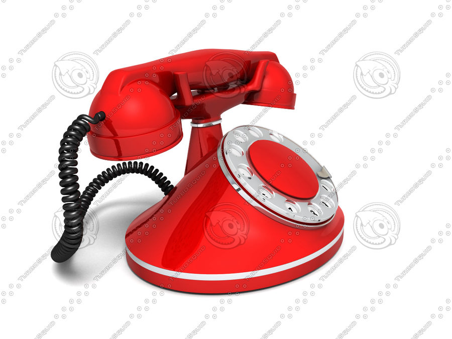 Vintage Phone royalty-free 3d model - Preview no. 2