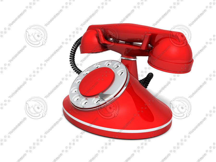 Vintage Phone royalty-free 3d model - Preview no. 5