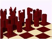 Satranç tahtası ve adet 3d model