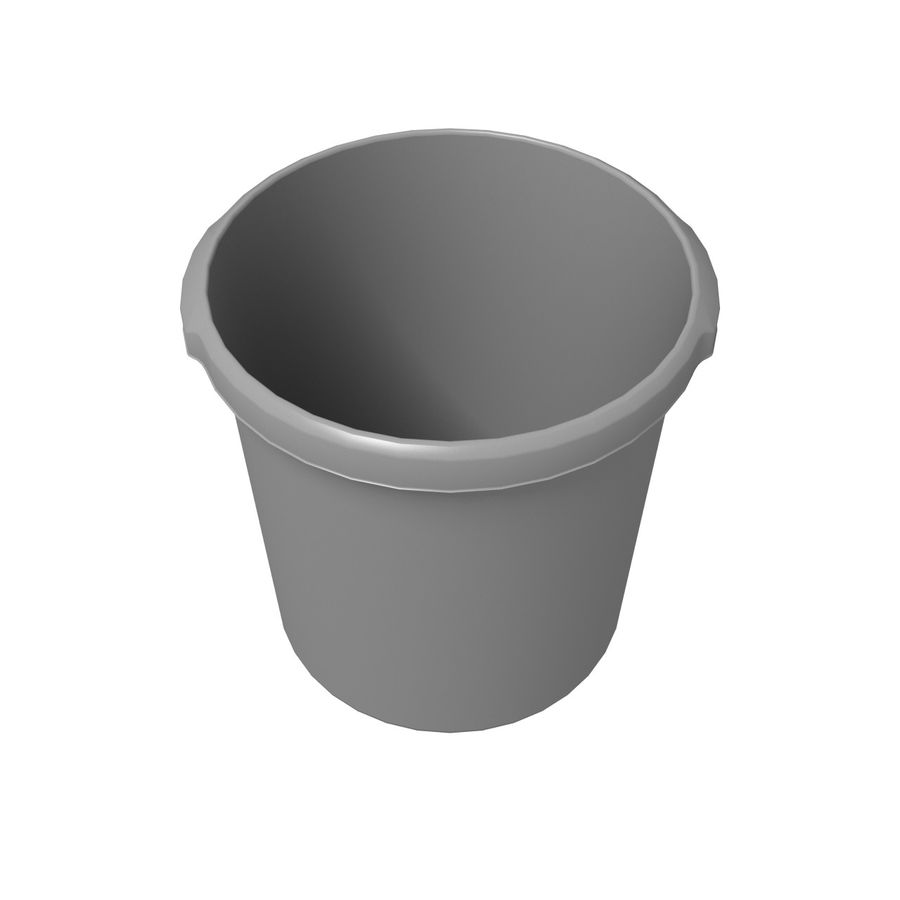 Office Bin royalty-free 3d model - Preview no. 3