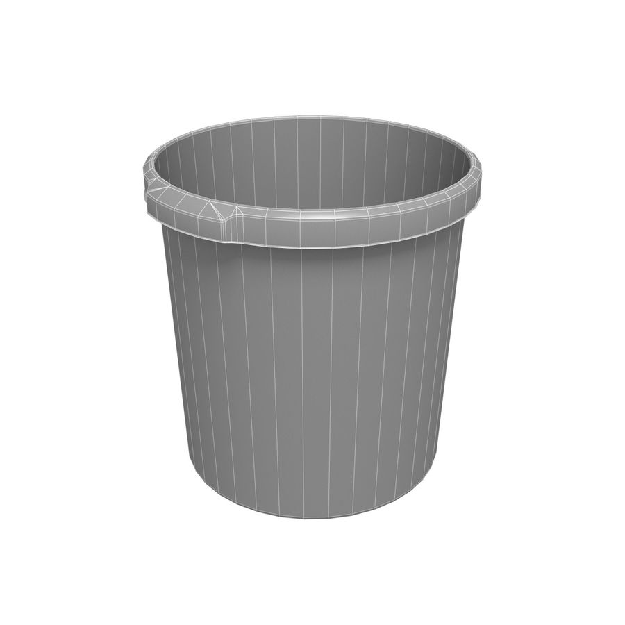 Office Bin royalty-free 3d model - Preview no. 2