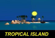 Isla tropical modelo 3d