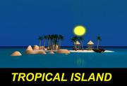 Ilha tropical 3d model