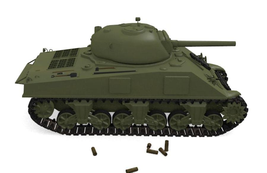 Sherman Tank royalty-free 3d model - Preview no. 2