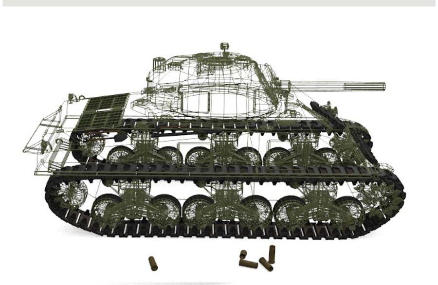Sherman Tank royalty-free 3d model - Preview no. 5