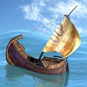 Корабль викингов 3d model