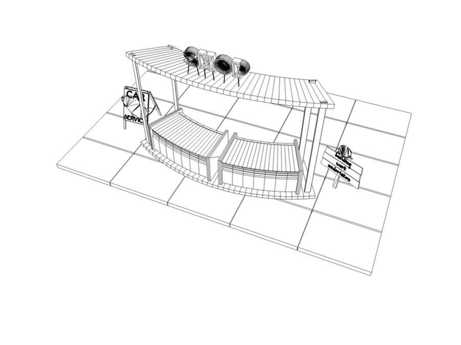 Market Stall royalty-free 3d model - Preview no. 3