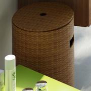 枝編み細工品バスケット 3d model