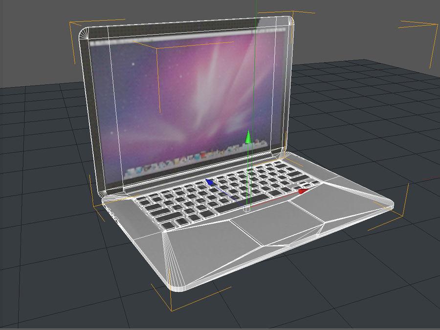Macbook Pro Retina royalty-free 3d model - Preview no. 6