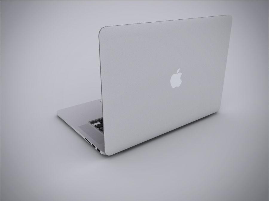 Macbook Pro Retina royalty-free 3d model - Preview no. 5