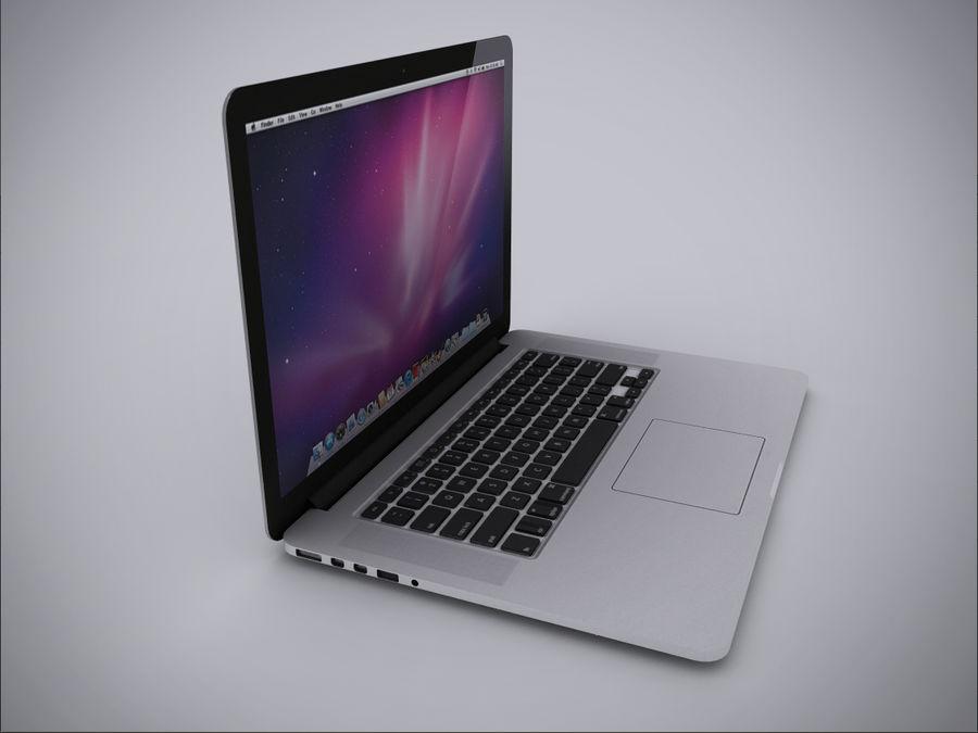 Macbook Pro Retina royalty-free 3d model - Preview no. 4