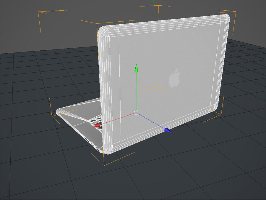 Macbook Pro Retina royalty-free 3d model - Preview no. 7