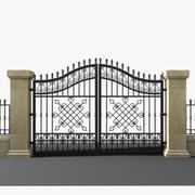 Wrought Iron Gate 17 3d model