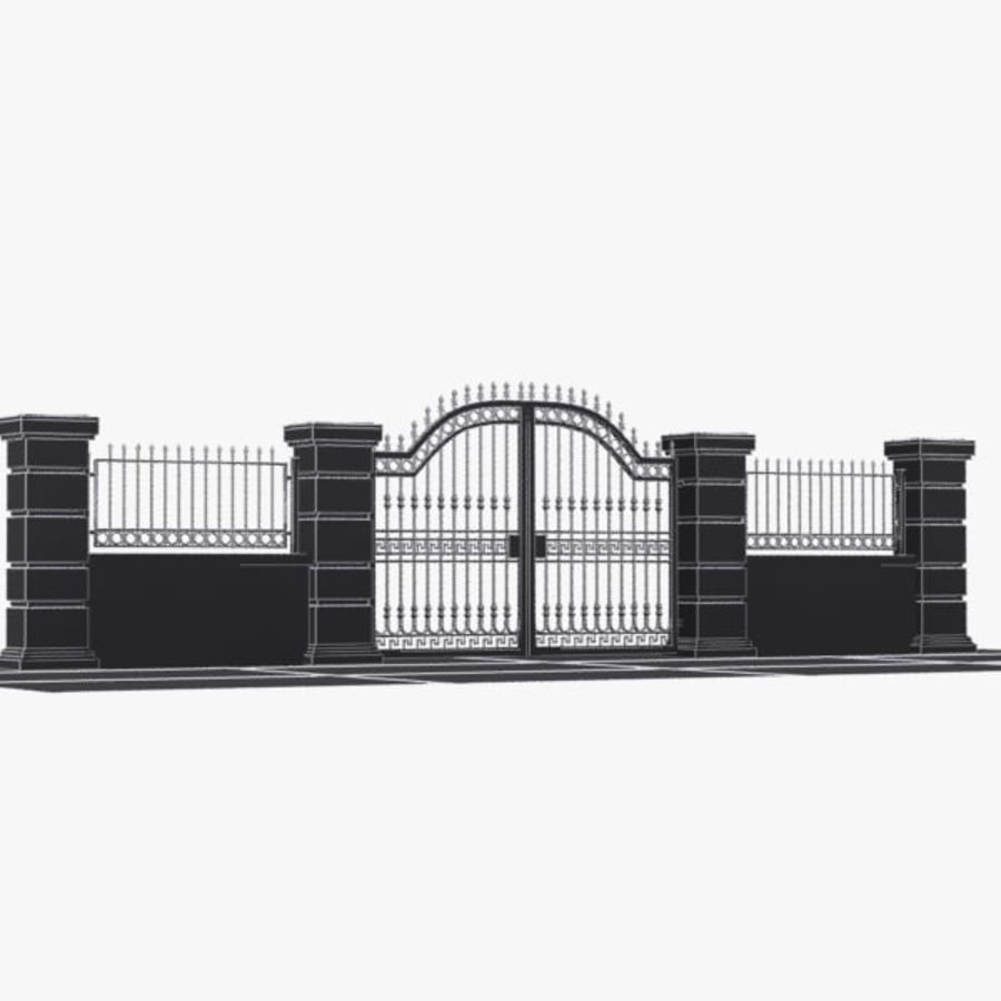 Wrought Iron Gate 16 royalty-free 3d model - Preview no. 8
