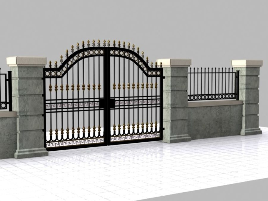 Wrought Iron Gate 16 royalty-free 3d model - Preview no. 6