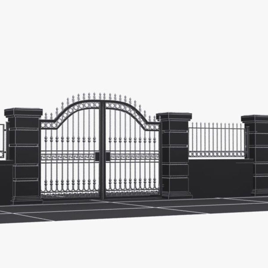 Wrought Iron Gate 16 royalty-free 3d model - Preview no. 7
