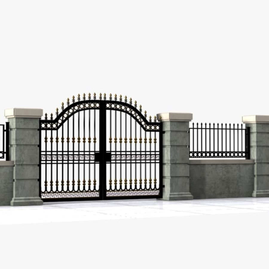 Wrought Iron Gate 16 royalty-free 3d model - Preview no. 1