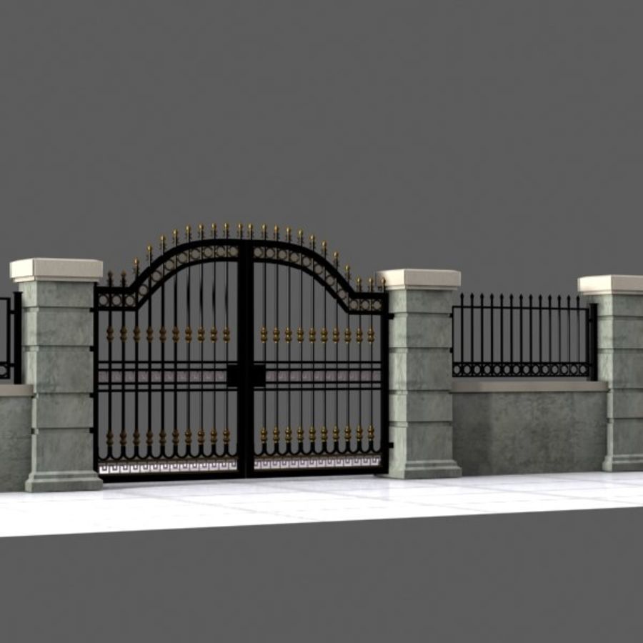 Wrought Iron Gate 16 royalty-free 3d model - Preview no. 2