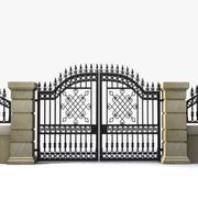 Wrought Iron Gate 18 3d model