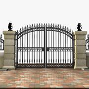 Wrought Iron Gate 19 3d model