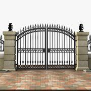 Wrought Iron Gate 19 3d model