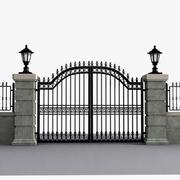 Wrought Iron Gate 15 3d model