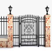 Wrought Iron Gate 20 3d model