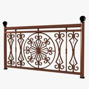 Decorative Wrought Iron Fence 03 3d model
