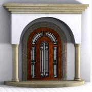 Drzwi z kolumnami 3d model