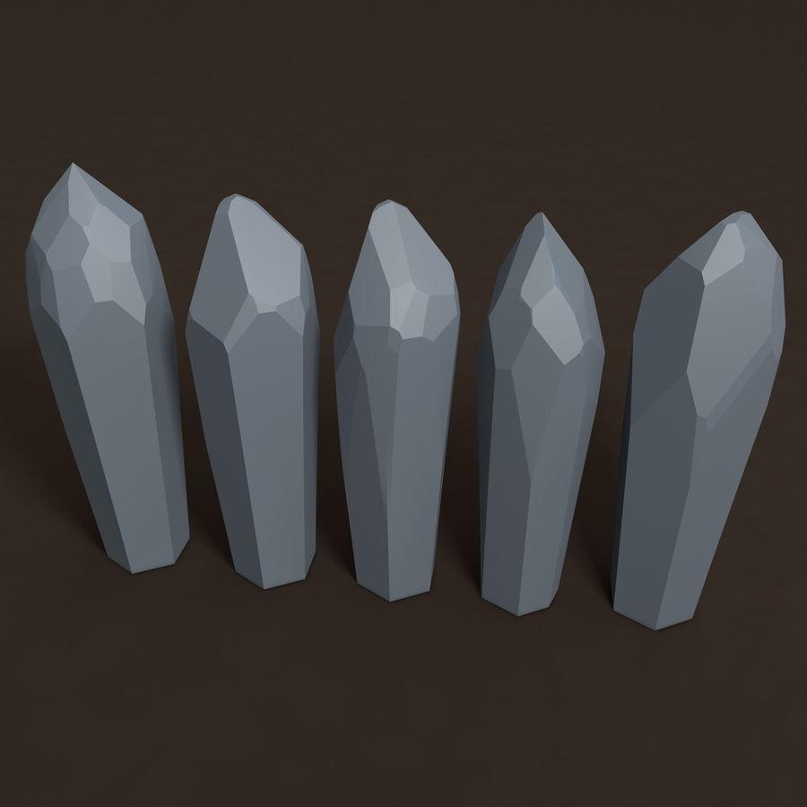 Minerały kryształów geodezyjnych royalty-free 3d model - Preview no. 4