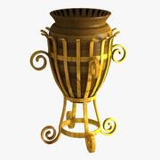 Decorative Flower Pot 3d model