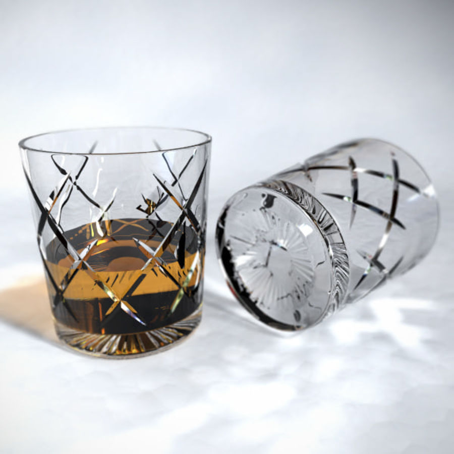 Whisky tumlare royalty-free 3d model - Preview no. 1