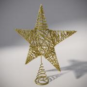 Étoile arbre noël 3d model