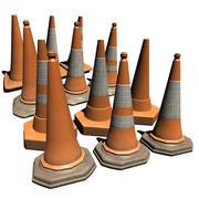 Cones de tráfego 3d model