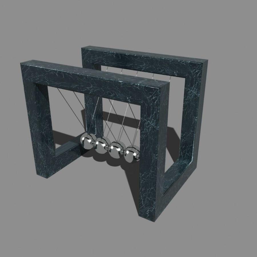 牛顿摇篮 royalty-free 3d model - Preview no. 2