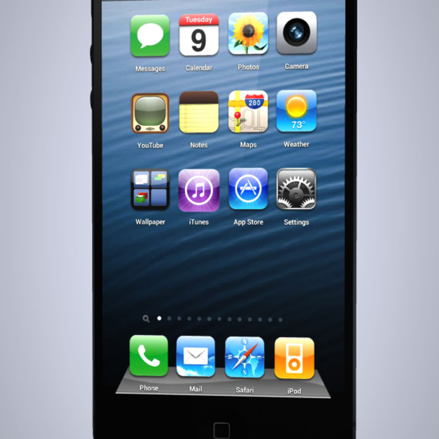 iphone 5 royalty-free 3d model - Preview no. 3