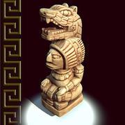 Réplica da figura maia 3d model