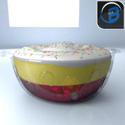 strawberry trifle 3d model