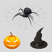 halloween _icons 2 3d model