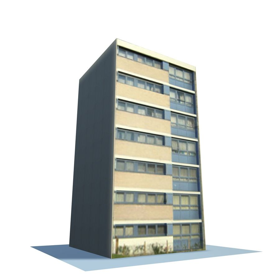 Low Poly Urban Wohnungen 1C royalty-free 3d model - Preview no. 1