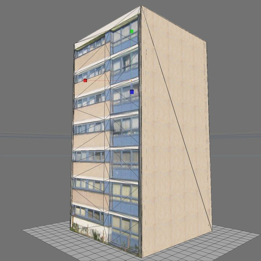 Low Poly Urban Wohnungen 1C royalty-free 3d model - Preview no. 7
